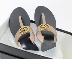 GUCCI LEATHER THONG SANDAL SIZE 38.5