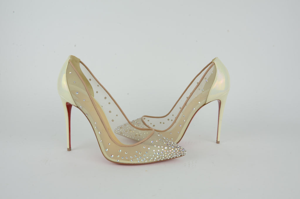 CHRISTIAN LOUBOUTIN  PIGALLE STRASS SIZE 39