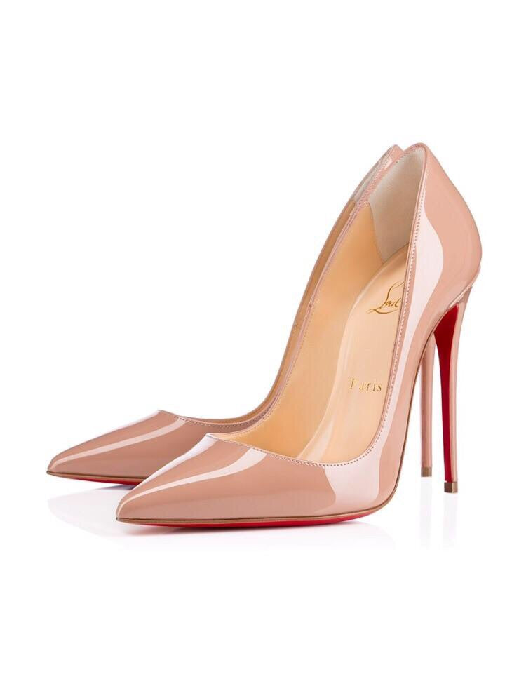 CHRSITIAN LOUBOUTIN SO KATE NUDE SIZE 38.5