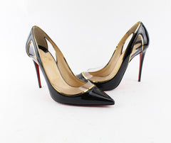 CHRISTIAN LOUBOUTIN COSMO 554 BLACK PATENT SIZE 39.5