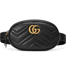 GG MARMONT MATELASSÉ LEATHER BELT BAG 85/34 Belt bag | LuxurySnob: pre owned luxury handbags, authentic designer goods second hand, second hand luxury bags, gently used designer shoes