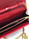 YSL CHAIN BAG RED