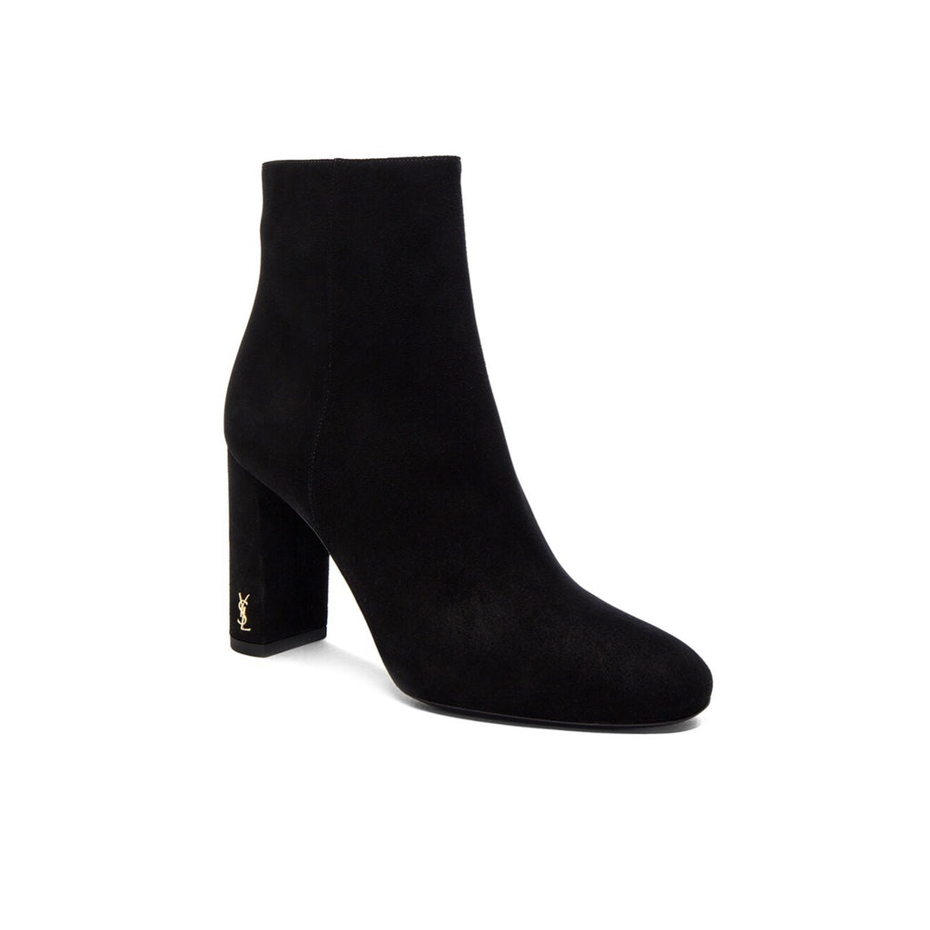 YSL LOULOU VELVET BOOTIES SIZE 39