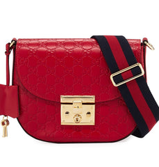 GUCCI PADLOCK SIGNATURE LEATHER SHOULDER BAG