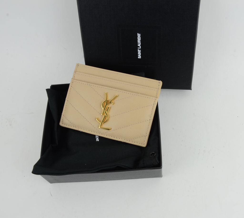 YSL QUILTED CARD HOLDER