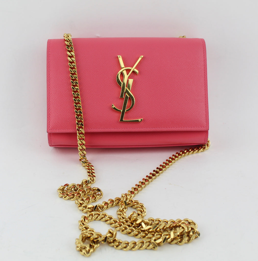 YVES SAINT LAURENT Small Kate chain crossbody bag CROSSBODY BAGS | LuxurySnob: pre owned luxury handbags, authentic designer goods second hand, second hand luxury bags, gently used designer shoes