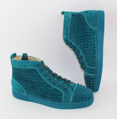 CHRISTIAN LOUBOUTIN LOUIS SPIKES HIGH TOP SNEAKER SIZE 45 SNEAKERS | LuxurySnob: pre owned luxury handbags, authentic designer goods second hand, second hand luxury bags, gently used designer shoes
