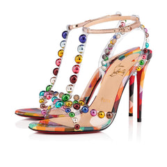 CHRISTIAN LOUBOUTIN FARIDARAVIE 100 MM PVC.