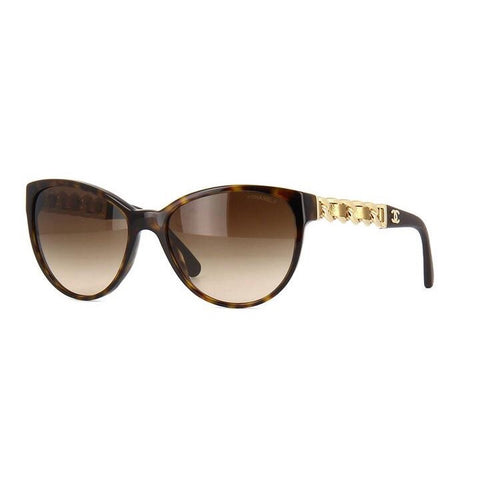 CHANEL CUT EYE LEATHER SHADES