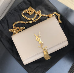 SAINT LAURENT KATE SMALL TASSEL SHOULDER BAG