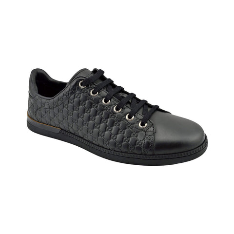 GUCCI BLACK GUCCISSIMA SNEAKERS SIZE 37