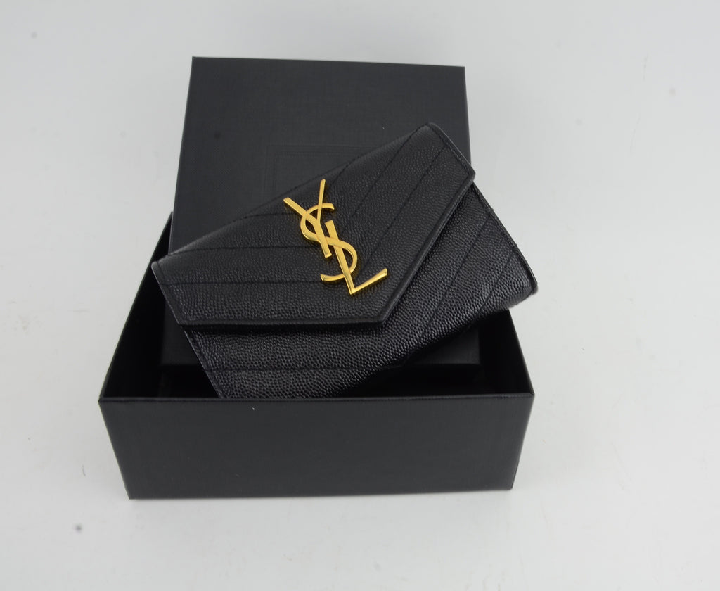 YSL SMALL MONOGRAM ENVELOPE WALLET