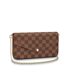 LOUIS VUITTON POCHETTE FELICIE CROSSBODY BAGS | LuxurySnob: pre owned luxury handbags, authentic designer goods second hand, second hand luxury bags, gently used designer shoes