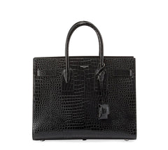 SAINT LAURENT CROC EMBOSSED SAC DE JOUR