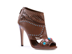 GUCCI BROWN SANDALS SIZE 38