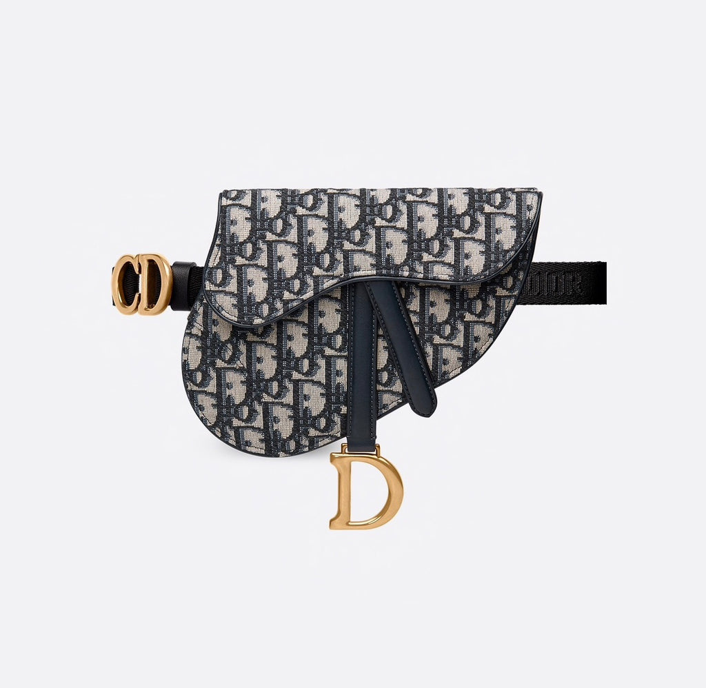 DIOR OBLIQUE SADDLE BELT BAG Belt bag | LuxurySnob: pre owned luxury handbags, authentic designer goods second hand, second hand luxury bags, gently used designer shoes