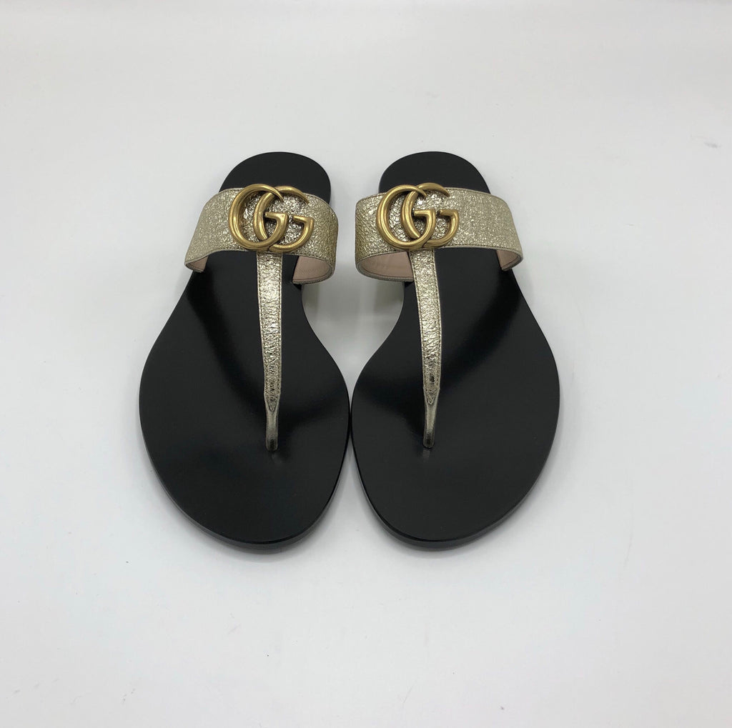 GUCCI LEATHER THONG SANDAL SANDALS | LuxurySnob: pre owned luxury handbags, authentic designer goods second hand, second hand luxury bags, gently used designer shoes