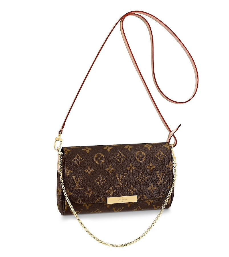 LOUIS VUITTON FAVORITE PM CROSSBODY BAGS | LuxurySnob: pre owned luxury handbags, authentic designer goods second hand, second hand luxury bags, gently used designer shoes