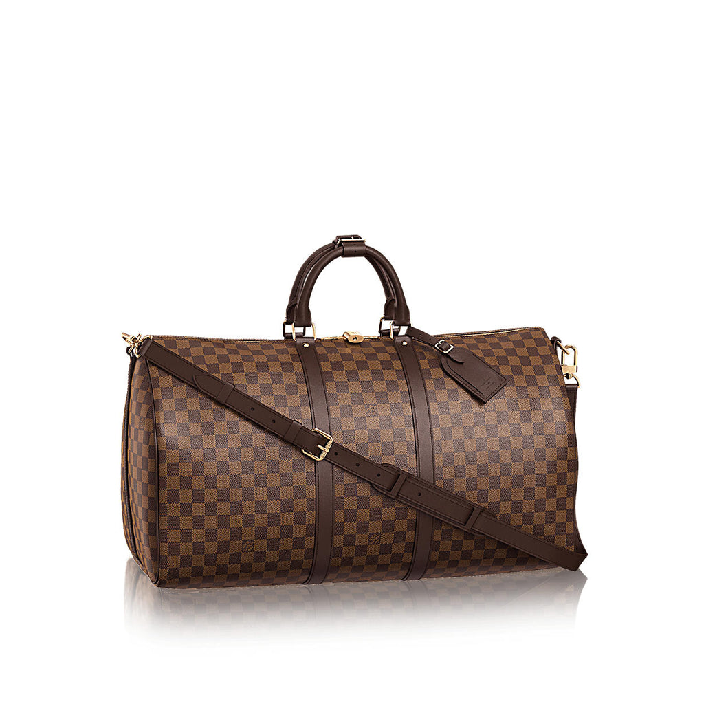 LOUIS VUITTON KEEPALL DAMIER EBENE BANDOULIERE 55