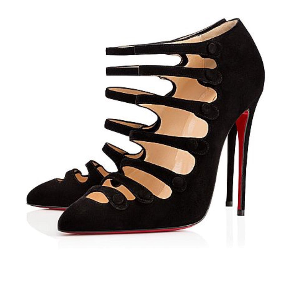 CHRISTIAN LOUBOUTIN VIENNANA 100MM SIZE 40 SHOES | LuxurySnob authentic Louboutin shoes second hand, second hand Christian Louboutin, pre owned red bottom shoes