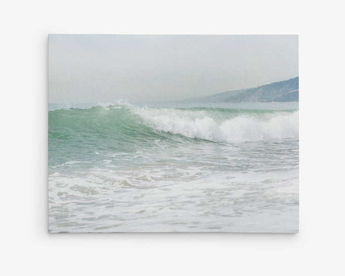 Teal Blue Surfer Beach Canvas Wall Art Off Duty Offley Green