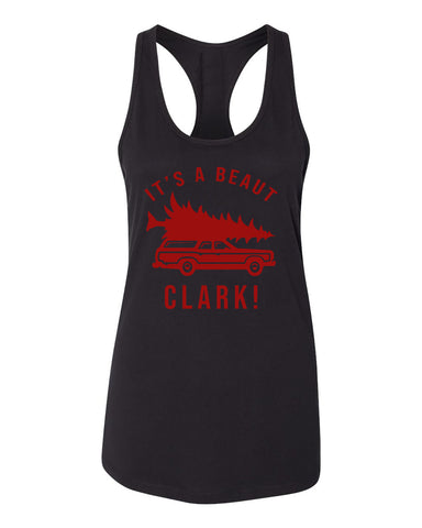 Christmas Vacation It's A Beaut Clark Car Womens Racerback Tank Top Black 2XL