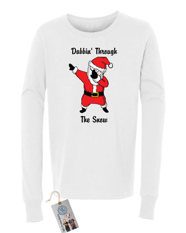Dabbin Santa Christmas Girls Boys  Long Sleeve