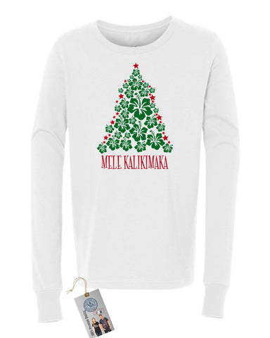 Christmas Vacation Mele Kalikimaka Girls Boys  Long Sleeve