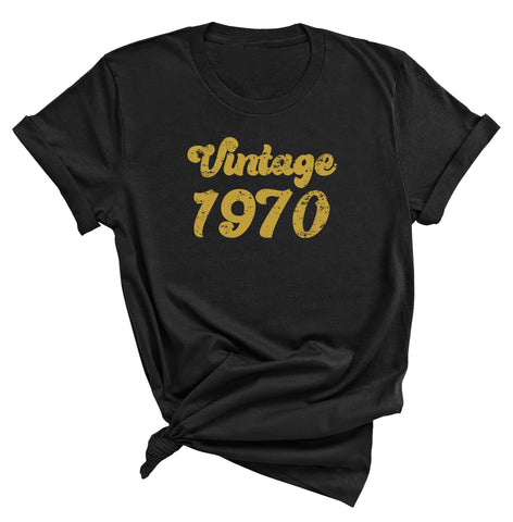51st Birthday Shirt, Vintage 1970 T-Shirt