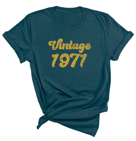50th Birthday Shirt, Vintage 1971 T-Shirt