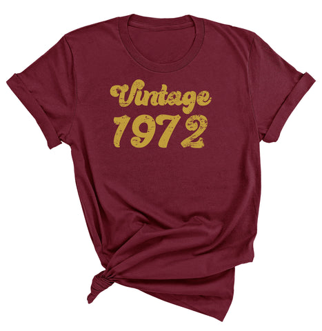 49th Birthday Shirt, Vintage 1972 T-Shirt
