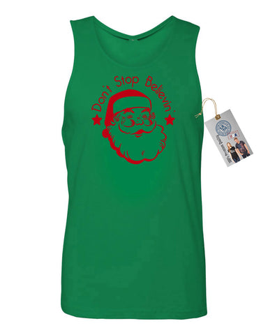 Santa Claus Believe Mens  Tank