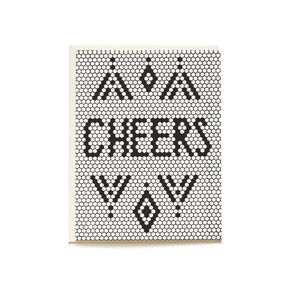 Retro Tile Cheers Card