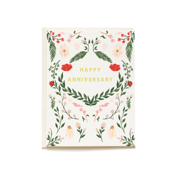 Wild Meadow Anniversary Card