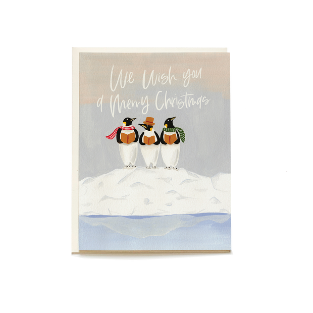 Penguin Carolers Holiday Card