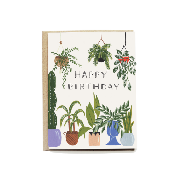 Plant Lover Birthday Card