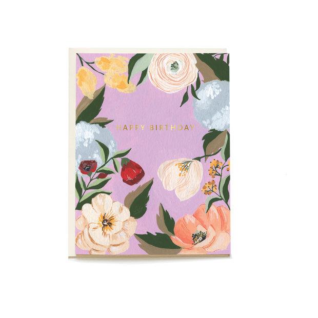 Lilac Garden Birthday Card