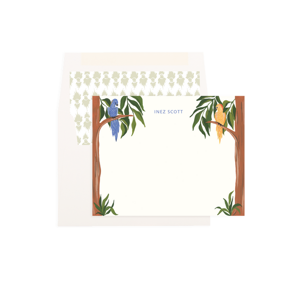 Birds in Paradise Personalized Flat Notes