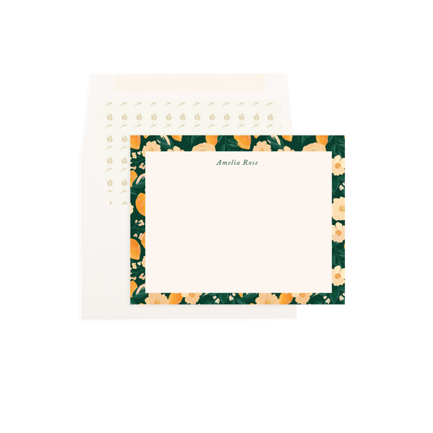 Magnolia Personalized Flat Notes