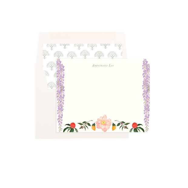 Garden Rose Personalized Flat Notes