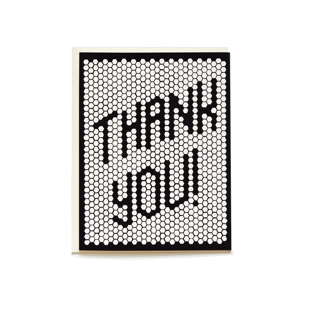 Retro Tile Thank You Card