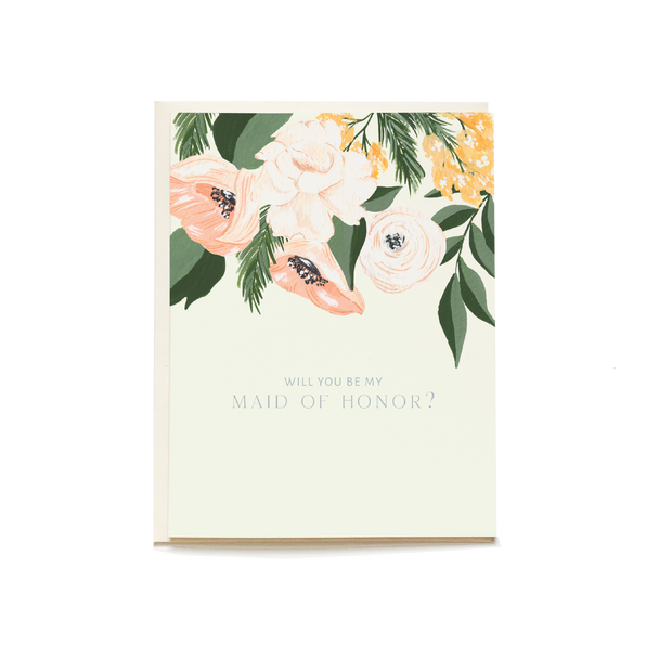 Maid of Honor Wedding Card