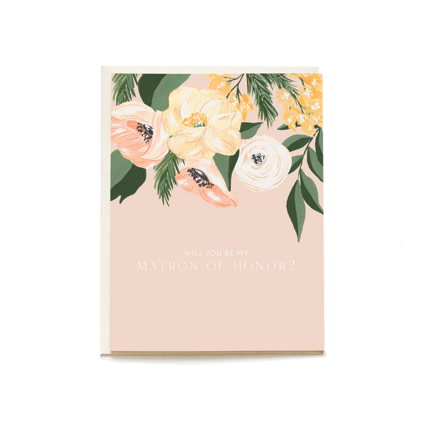 Matron of Honor Wedding Card