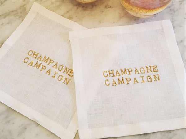 Champagne Campaign Cocktail Square Set