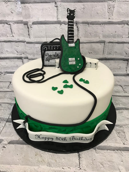 Adult Birthday - Guitar Theme Cake