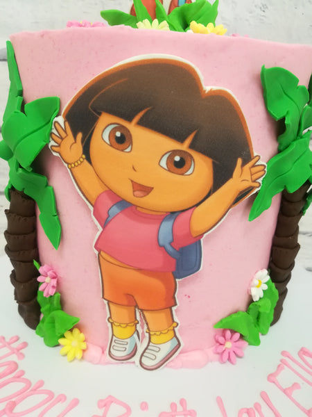 Children's Birthday - Dora the Explorer Theme Cake