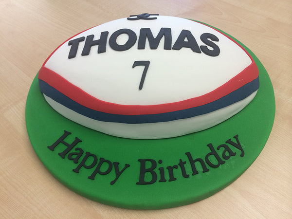 Childrens Birthday - 2D Football / Rugby Cake
