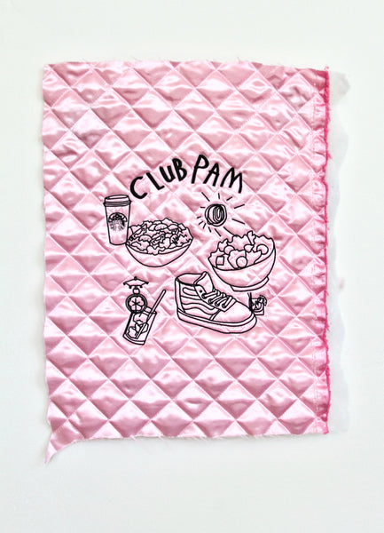 PUFF PINK, CLUB PAM SKETCH EMBROIDERY
