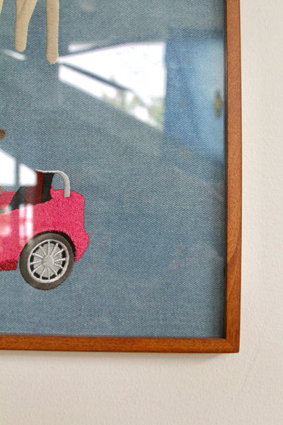 PAM CRUISE, FRAMED DENIM EMBROIDERY