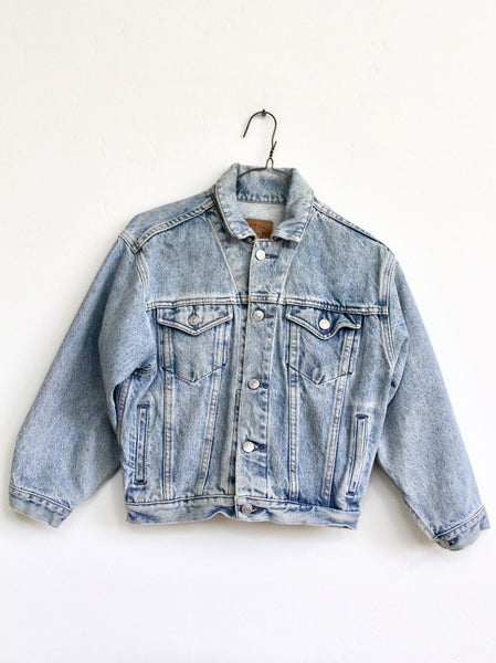 CLUB PAM, EMBROIDERED GAP DENIM JACKET